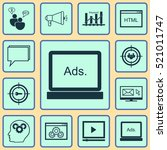 set of 12 advertising icons....
