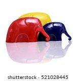 Three Elephants   Yellow  Blue...