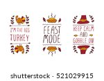 set of thanksgiving elements.... | Shutterstock .eps vector #521029915