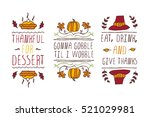 set of thanksgiving elements.... | Shutterstock .eps vector #521029981
