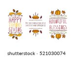 set of thanksgiving elements.... | Shutterstock .eps vector #521030074