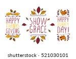 set of thanksgiving elements.... | Shutterstock .eps vector #521030101