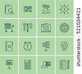 set of 16 project management...   Shutterstock .eps vector #521034421