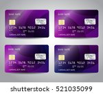 realistic detailed credit cards ... | Shutterstock .eps vector #521035099