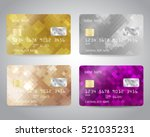 realistic detailed credit cards ... | Shutterstock .eps vector #521035231