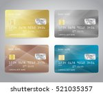 realistic detailed credit cards ... | Shutterstock .eps vector #521035357