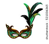carnival mask for mardi gras... | Shutterstock .eps vector #521036365