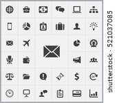 email icon. business icons... | Shutterstock .eps vector #521037085