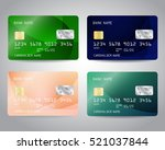 realistic detailed credit cards ... | Shutterstock .eps vector #521037844