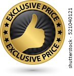 exclusive price golden sign... | Shutterstock .eps vector #521040121