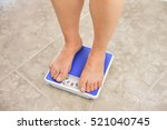 legs of a young woman...   Shutterstock . vector #521040745