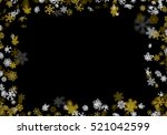 snowfall background with golden ...