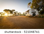 Campsite With Caravans In A...