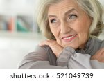 smiling senior woman | Shutterstock . vector #521049739