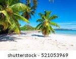 Beautiful Beach On Tropical...