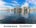 beautiful toronto skyline with... | Shutterstock . vector #521054137