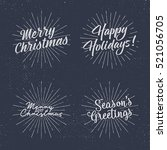 set of christmas lettering ... | Shutterstock . vector #521056705