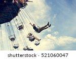swing spinning amusement... | Shutterstock . vector #521060047