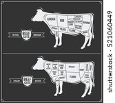 cuts of beef. american and...