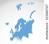 detailed vector map of... | Shutterstock .eps vector #521060767
