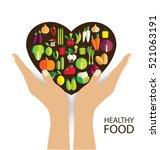 vegetables vector illustration   Shutterstock .eps vector #521063191