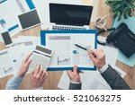 business team at work  they are ... | Shutterstock . vector #521063275