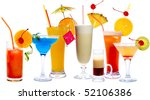 cocktails isolated on white ... | Shutterstock . vector #52106386