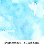 blue watercolor ink wet brush... | Shutterstock . vector #521065381