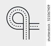 road overpass minimalistic flat ...   Shutterstock .eps vector #521067409