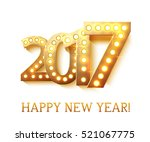 the 2017 new year symbol with... | Shutterstock .eps vector #521067775