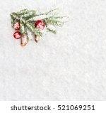 christmas decoration. branch... | Shutterstock . vector #521069251