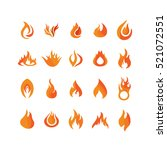 flame icons in white background | Shutterstock .eps vector #521072551
