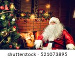 authentic santa claus. real... | Shutterstock . vector #521073895