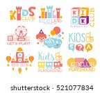 kids land playground and... | Shutterstock .eps vector #521077834
