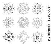 regular shape doodle ornamental ... | Shutterstock .eps vector #521077969