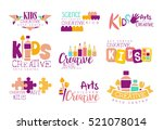 kids creative and science class ... | Shutterstock .eps vector #521078014