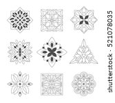 regular shape doodle ornamental ... | Shutterstock .eps vector #521078035