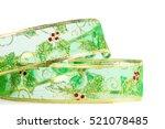 green christmas ribbon for... | Shutterstock . vector #521078485