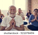 diversity people exercise class ... | Shutterstock . vector #521078494