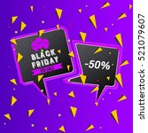 abstract vector black friday... | Shutterstock .eps vector #521079607