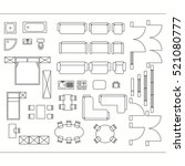 architectural drawing for...   Shutterstock .eps vector #521080777