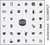 sandwich icon. cafe icons... | Shutterstock .eps vector #521080927