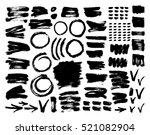 vector ink and paint textures... | Shutterstock .eps vector #521082904