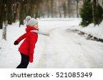 Girl Of School Age Walks In Th...