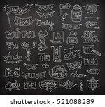 doodle calligraphic funny...   Shutterstock . vector #521088289