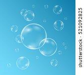 underwater sparkling oxygen...   Shutterstock .eps vector #521092825