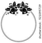 silhouette round frame with... | Shutterstock .eps vector #521095729