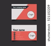 business card template | Shutterstock . vector #521102209