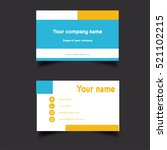 business card template | Shutterstock . vector #521102215