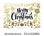 chic and luxury christmas... | Shutterstock .eps vector #521102884